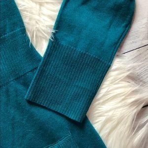 White House Black Market Sweaters - WHBM Teal V-neck Merino Wool Cardigan